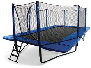 Rectangle Trampoline with Enclosure